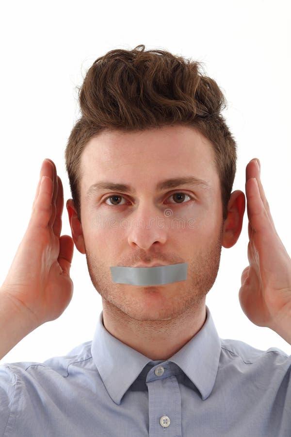 Download Young man censored stock image. Image of secret, portrait - 25451277