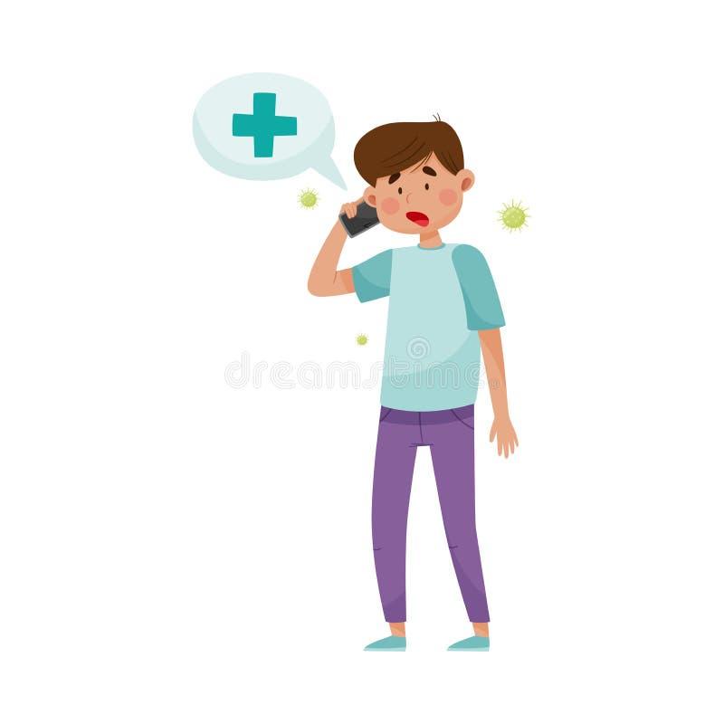 Floating Phone Handset Stock Illustration. Illustration Of