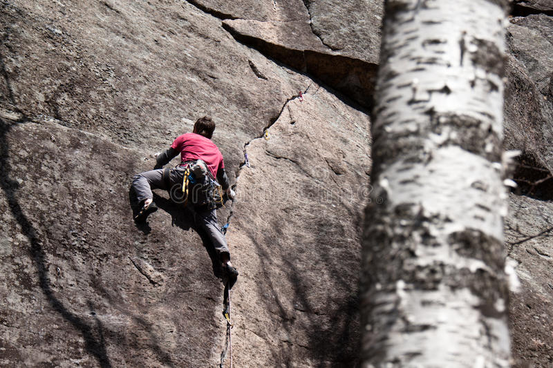 Download Young Man Climbing In Quebec Stock Photo - Image: 20618694