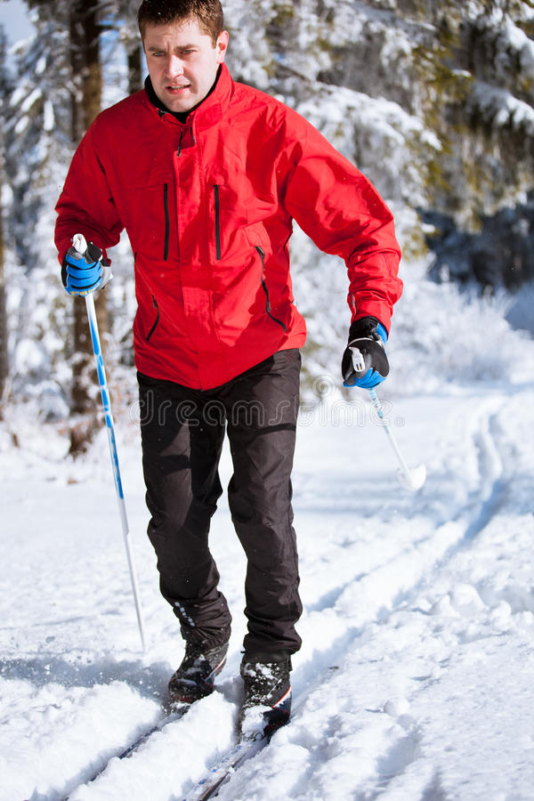 Download Young Man Cross-country Skiing Stock Photo - Image: 22354236