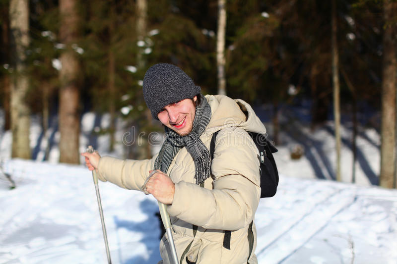 Download Young Man Cross-country Skiing Closeup Stock Image - Image: 22538361