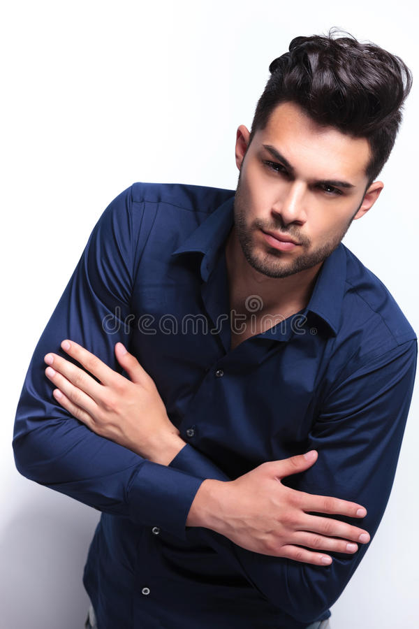 Download Young Man With Crossed Arms Stock Image - Image: 33657455
