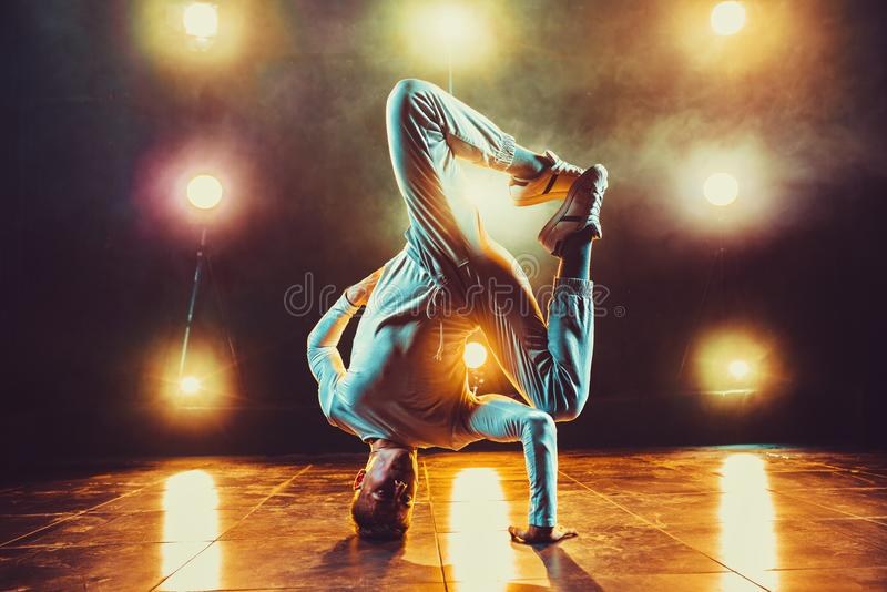 Young man dancing royalty free stock photo
