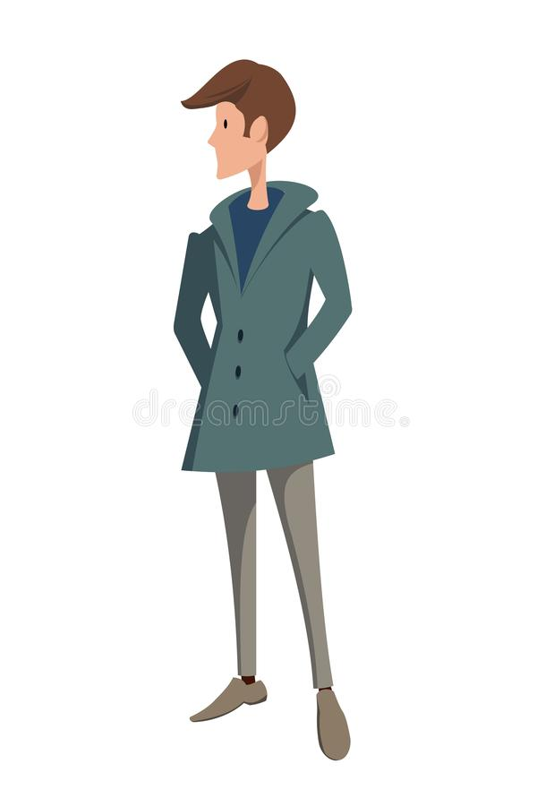 A young man stock illustration