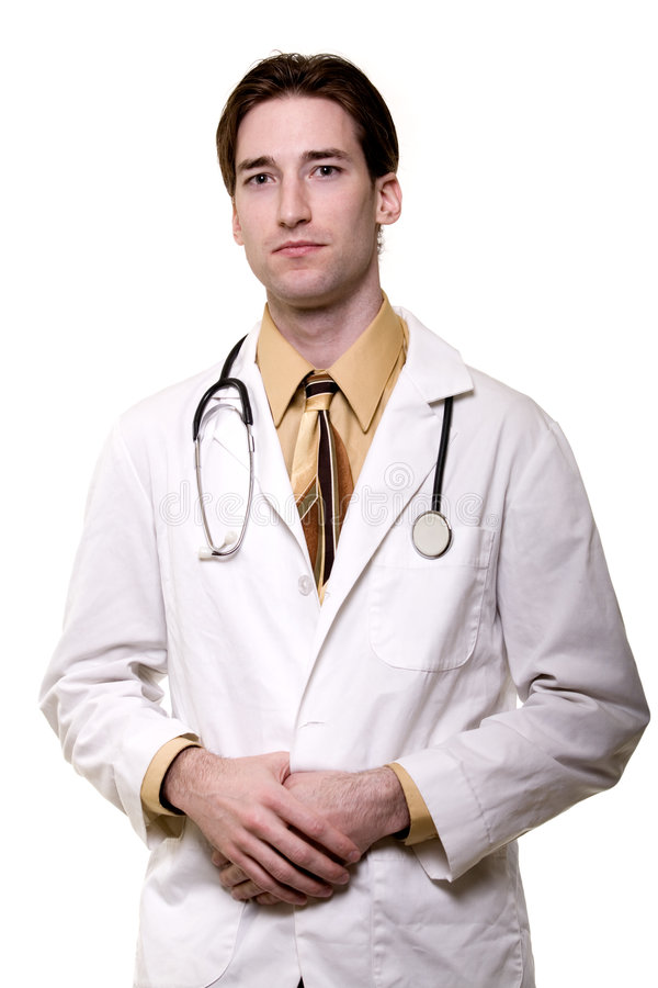 Young man doctor stock image