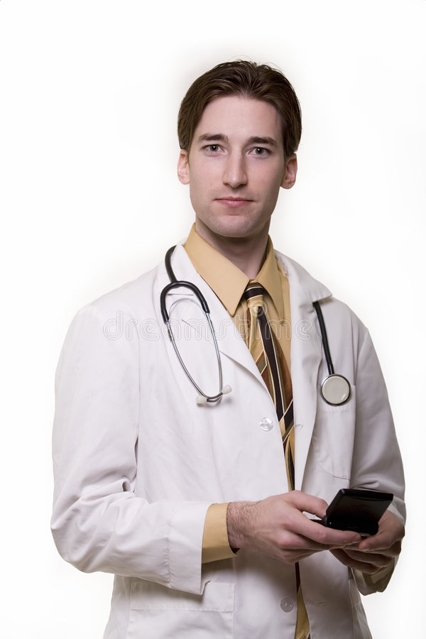 Young man doctor stock photo