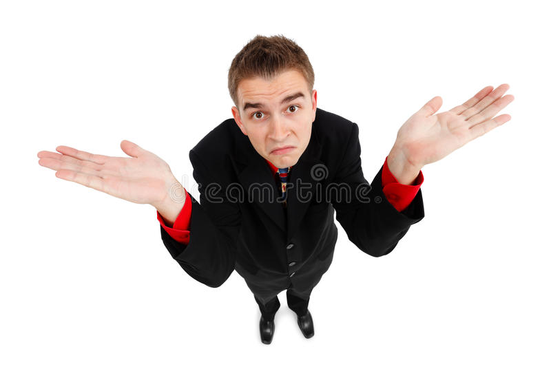 Download Young Man With Doesn't Know Gesture Stock Photo - Image: 16734454