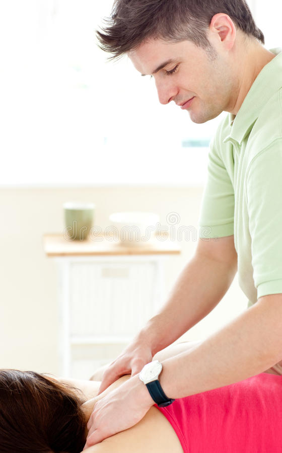 Download Young Man Doing Fitness Exercises With A Patient Stock Image - Image: 15249987