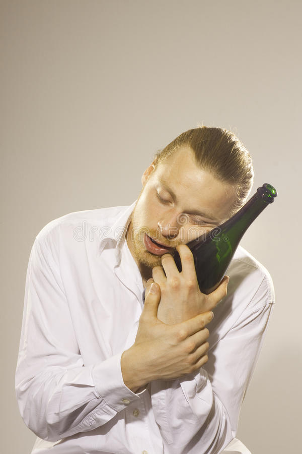 Download Young man drinking alkohol stock photo. Image of drunk - 39501122