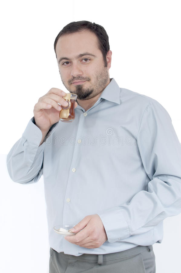 Download Young man drinking tea stock image. Image of young, chai - 24999559