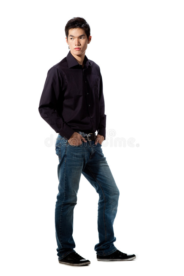 Young man with face expression stock image