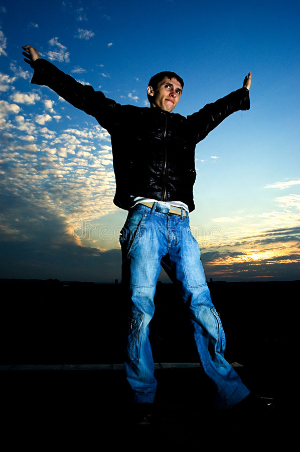 Download Young Man Feels The Freedom Royalty Free Stock Photography - Image: 6640207