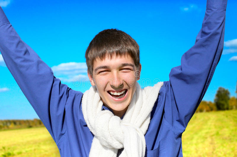 Download Young man in the field stock image. Image of grassland - 26252311