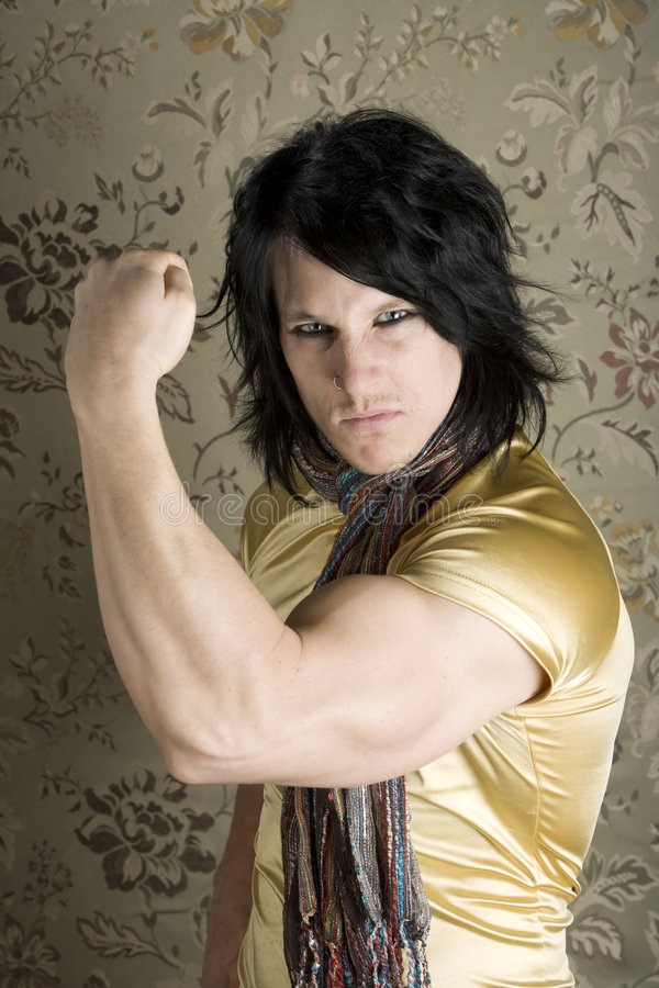 Download Young Man Flexing His Bicep Stock Photo - Image of silk, handsome: 6439592