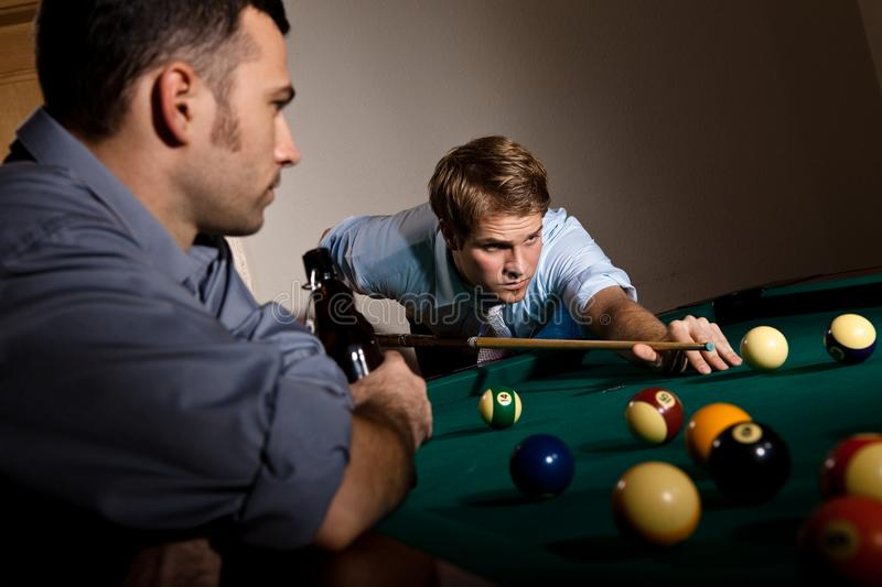 Download Young Man Focusing On Playing Snooker Stock Photo - Image: 24850366