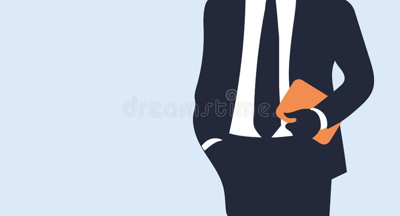 A young man get the idea,flat and paper art style,notion,word,text,boy,imagination,mind,big,blue,face,lamp,see,know, realize,grasp. A young man get the idea,flat royalty free illustration