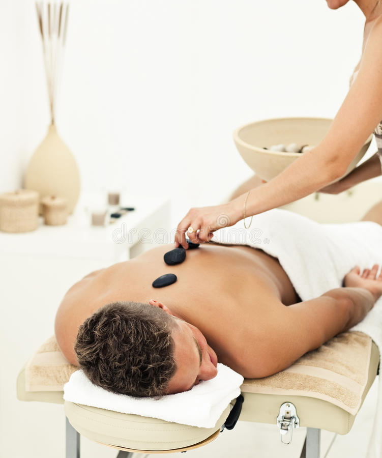 Young Man Getting Spa Treatment Royalty Free Stock Image