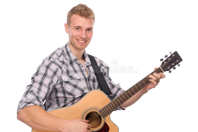 Young Man With Guitar Stock Image