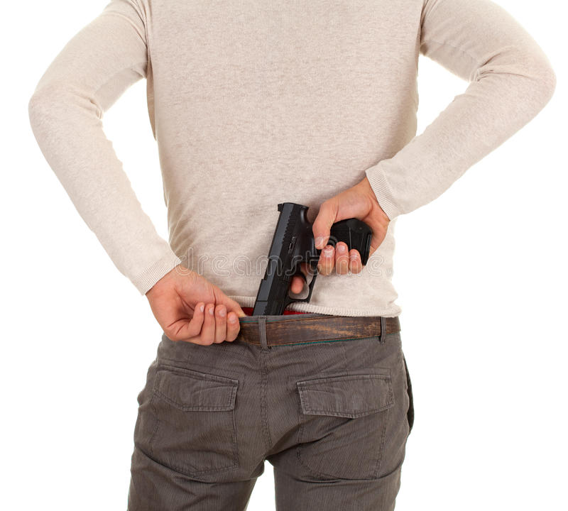 Young Man With Gun Royalty Free Stock Photography