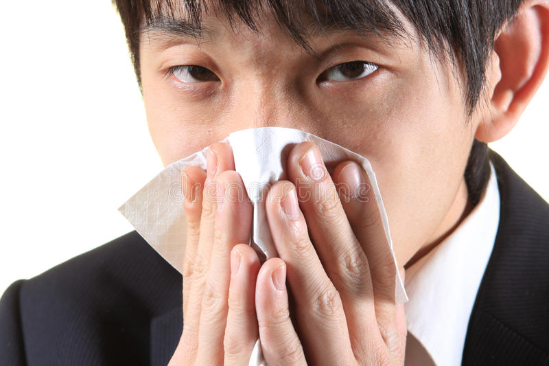 Young Man With Handkerchief Stock Image