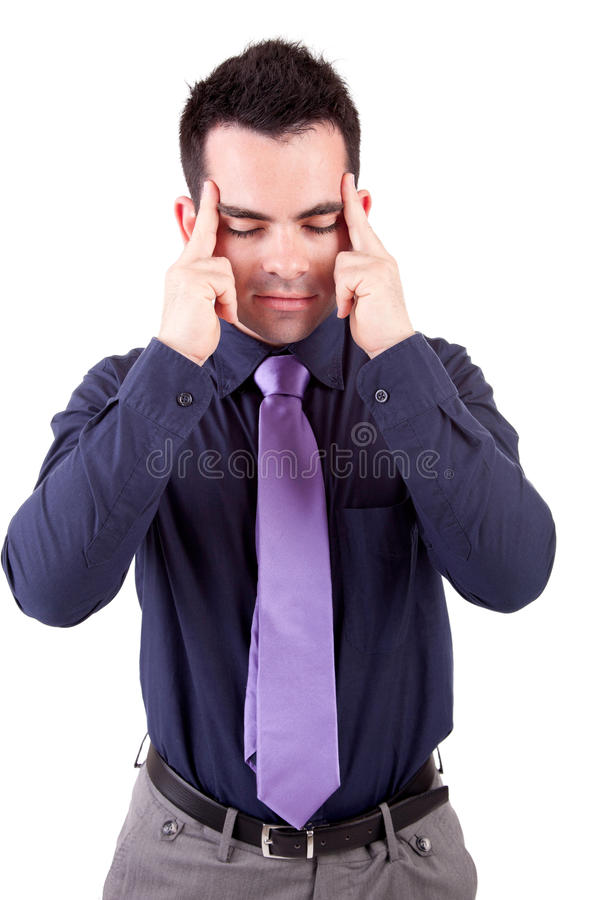 Download Young man with headache stock photo. Image of casual - 14851630