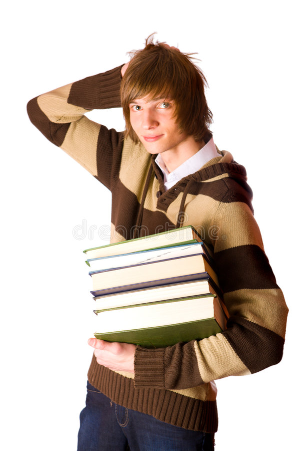 Download Young Man Holding Books Stock Images - Image: 7333274