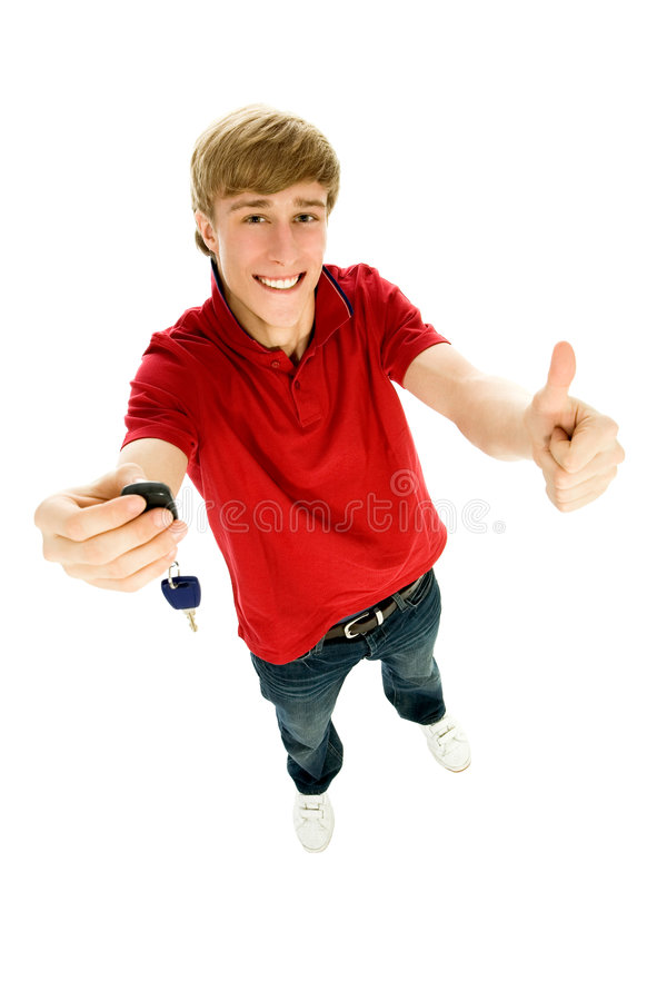 Download Young Man Holding Car Keys Stock Photography - Image: 8046342