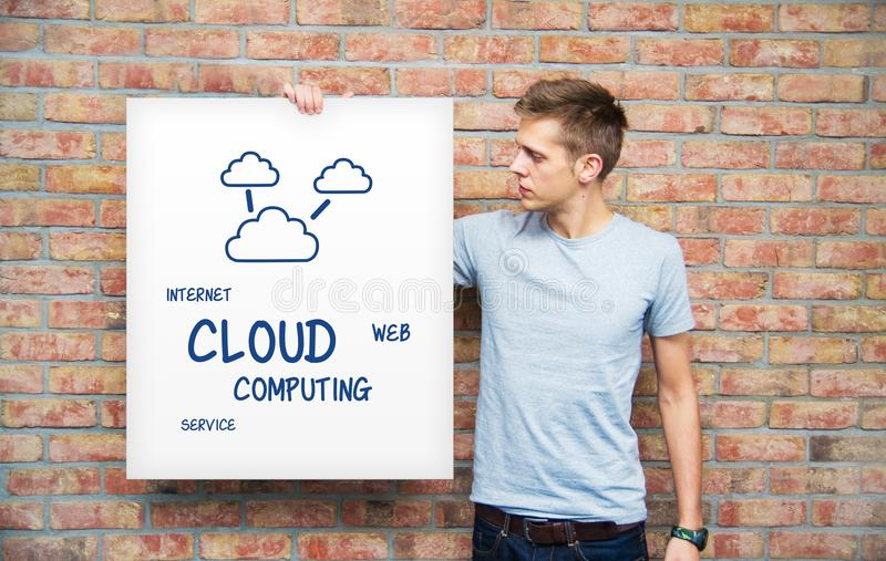 Download Young Man Holding Whiteboard Stock Image - Image: 34556897