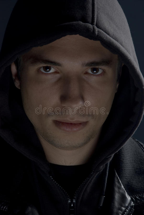 Download Young man with hood stock photo. Image of life, closeup - 12049636