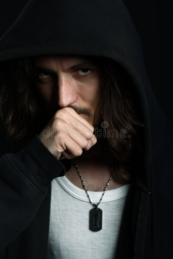 Download Young Man In Hood Having Dilemma Stock Image - Image of having, thoughtful: 8971281