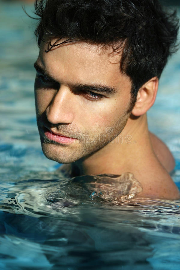 Free Young Man In Pool Stock Photos - 17598033