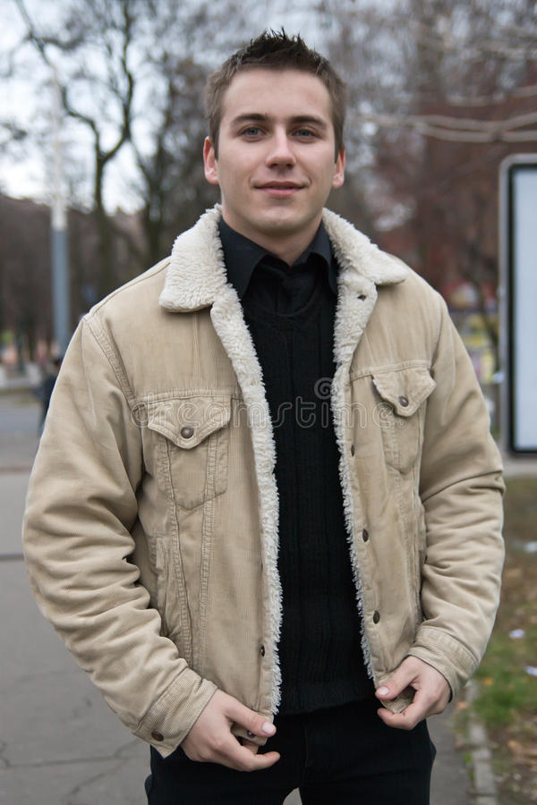 Free Young Man In Warm Coat Stock Photo - 12050210