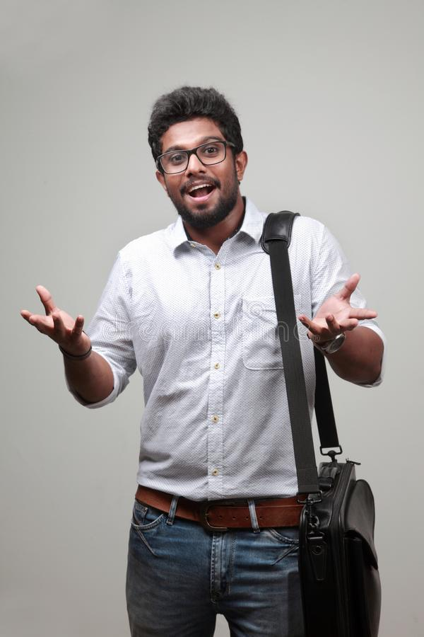 A young man of Indian origin royalty free stock images