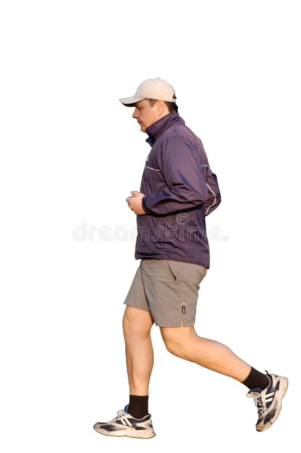 Download Young Man Jogging stock photo. Image of young, isolated - 2185878