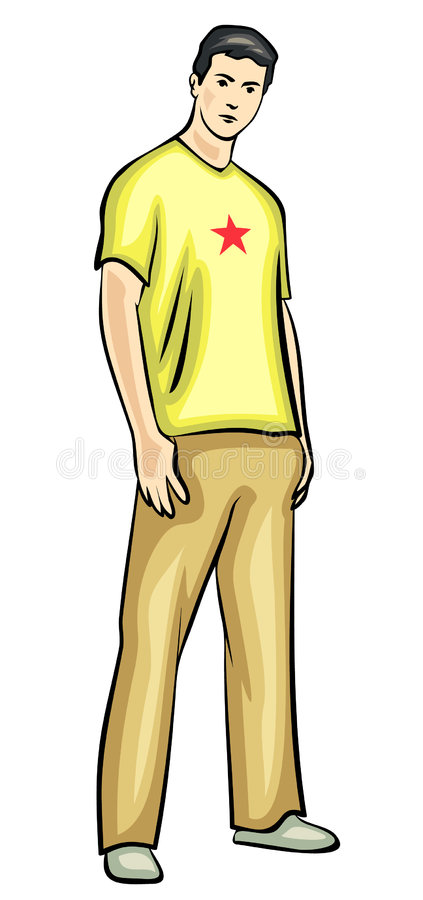 Young Man. JPG And EPS Royalty Free Stock Photo