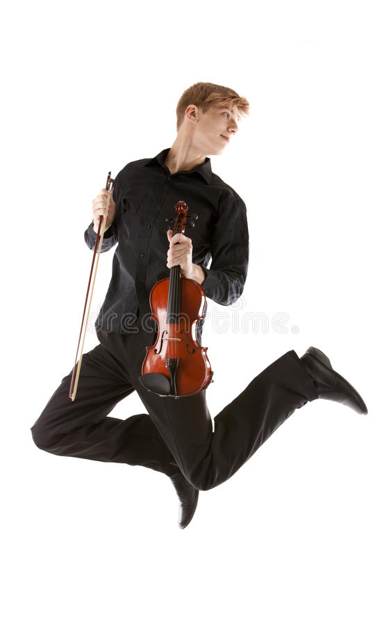 Download Young man jumping stock photo. Image of artistic, instrument - 23869404