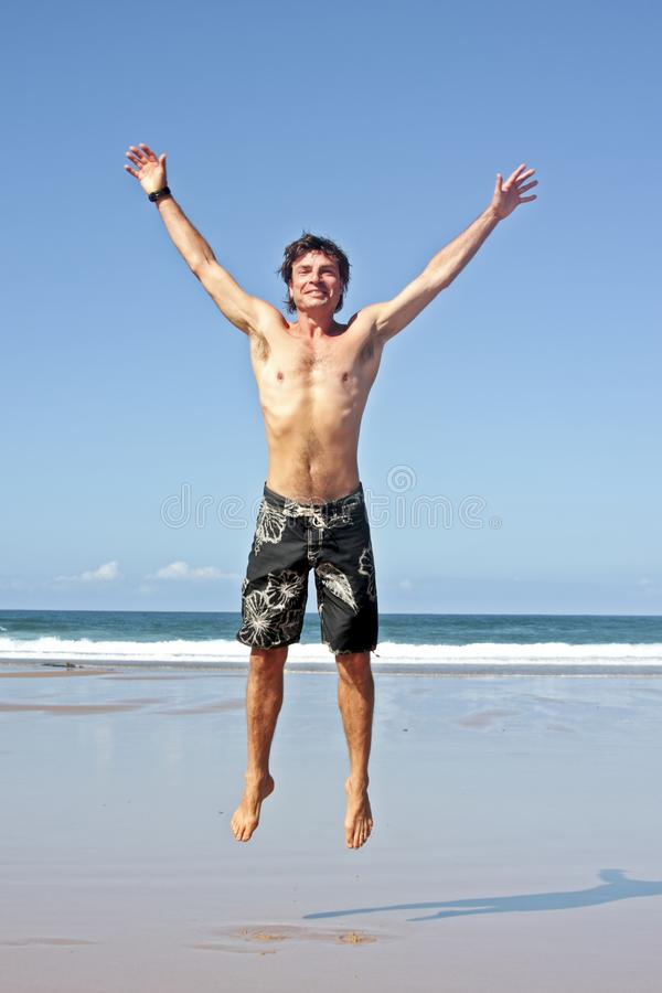Download Young Man Jumping In The Air Out Of Joy Stock Photo - Image: 11297750