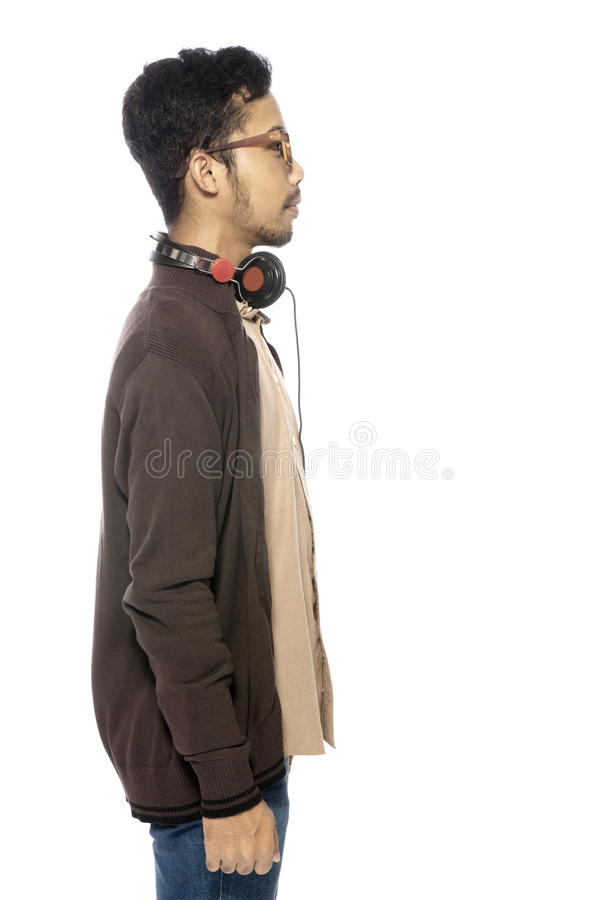 Download Young Man Listening Music stock image. Image of face - 25842183