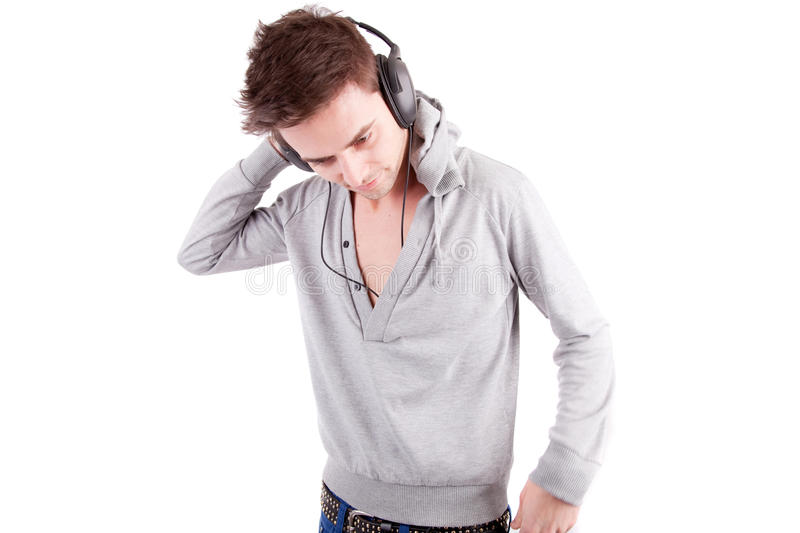 Download Young Man Listening To Music Stock Image - Image: 14433595
