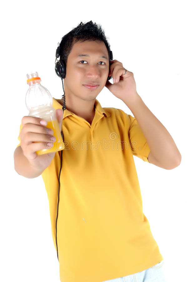 Download Young Man Listening To Music Royalty Free Stock Images - Image: 20653809
