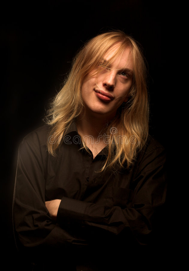 Download Young Man With Long Blond Hair Stock Photo - Image: 7327068