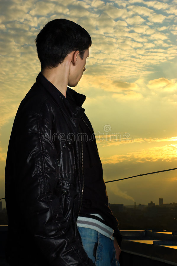 Download Young man looking ahead stock photo. Image of future, independence - 6640202