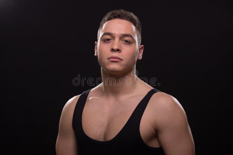 Young man looking badass at camera royalty free stock images