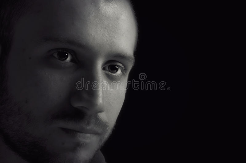 Young man lost in thought royalty free stock photos