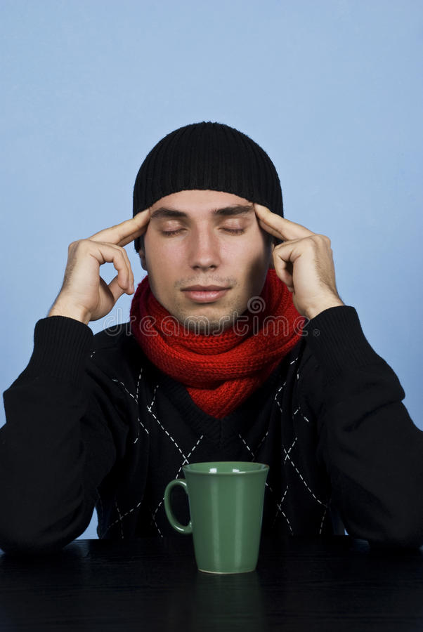 Young man meditate royalty free stock images