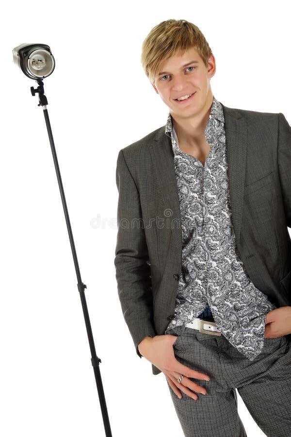 Young Man Model, Thumb In Pocket Royalty Free Stock Photos