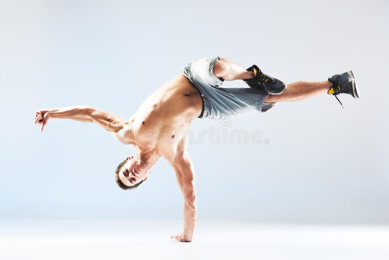 Young man modern dance royalty free stock images