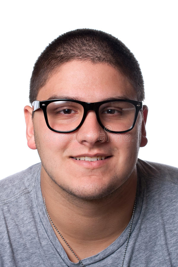 Young Man In Nerd Glasses Stock Image Image Of Eyes
