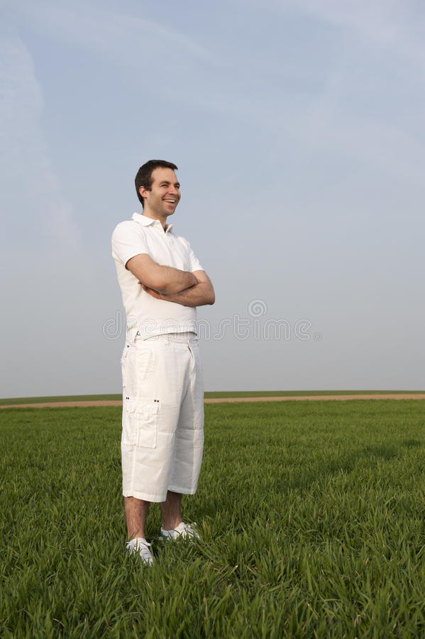Download Young Man , Outdoors In The Fields Stock Photo - Image: 24045788