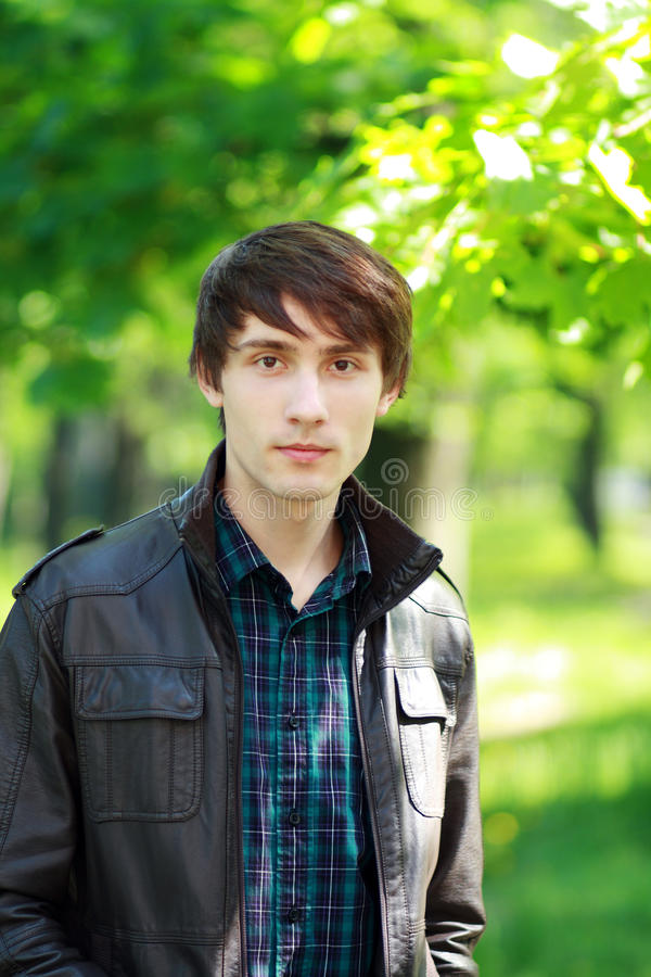Download Young man outdoors stock image. Image of background, human - 30839137